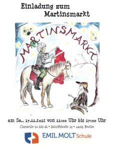 Plakat Martinsmarkt © Emil Molt Schule